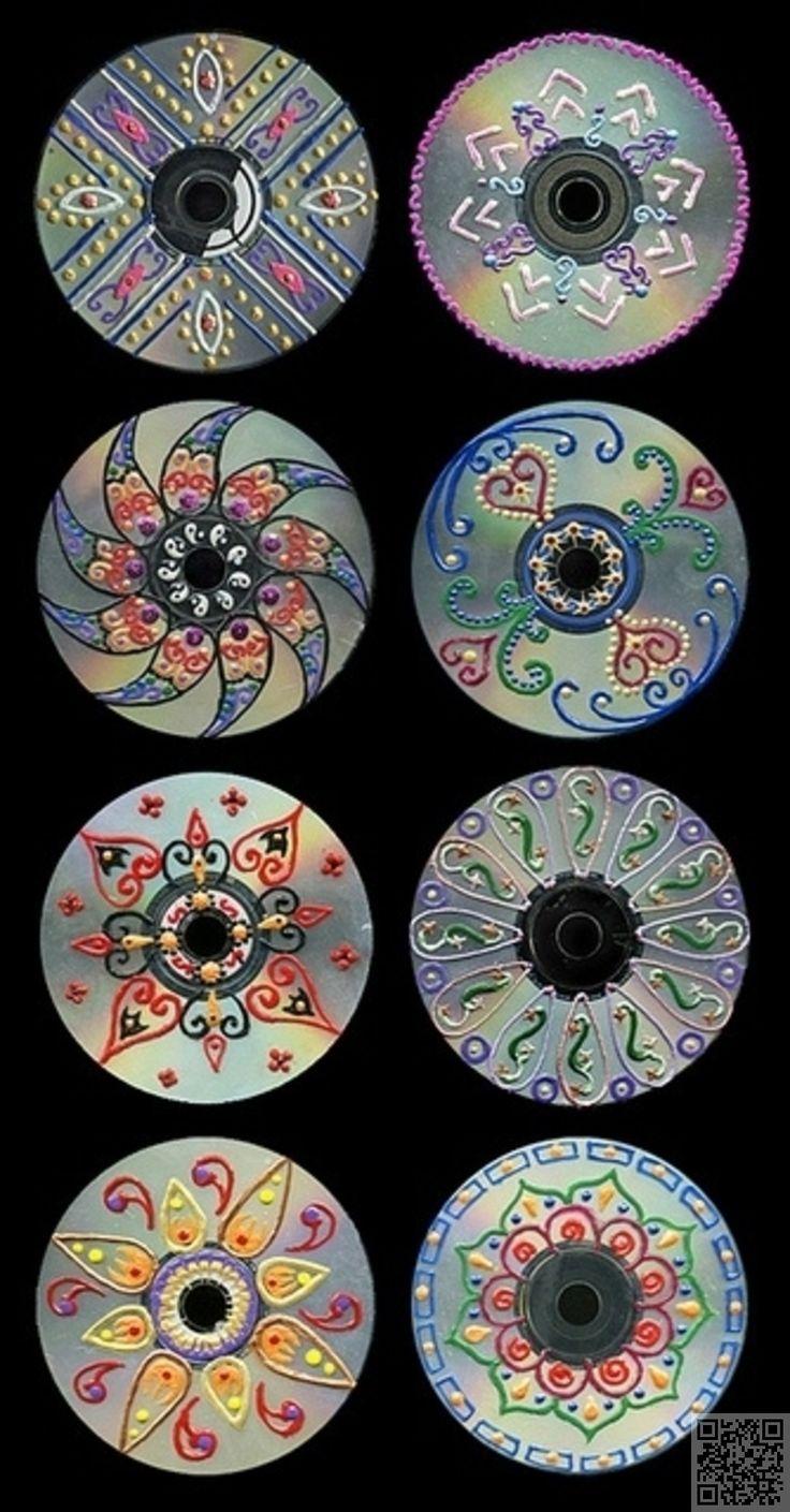 3. Art CD - 35 #façons de recycler de #vieux CD... → DIY
