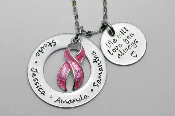 Breast Cancer necklace  Cancer Survivor by LauriginalDesigns, $34.00