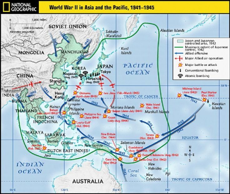World War II Pacific - Battles of the Pacific and Asia
