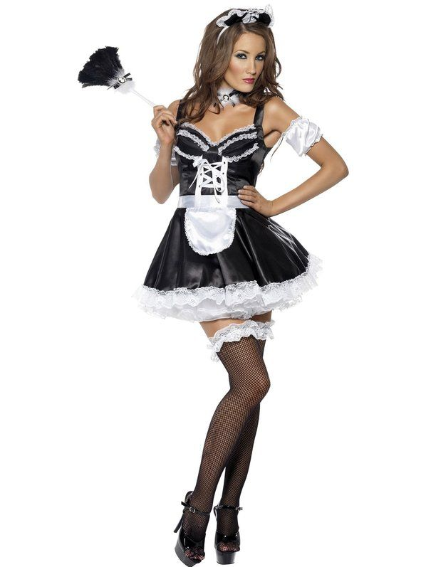 Sexy Women's Flirty French Maid Costume