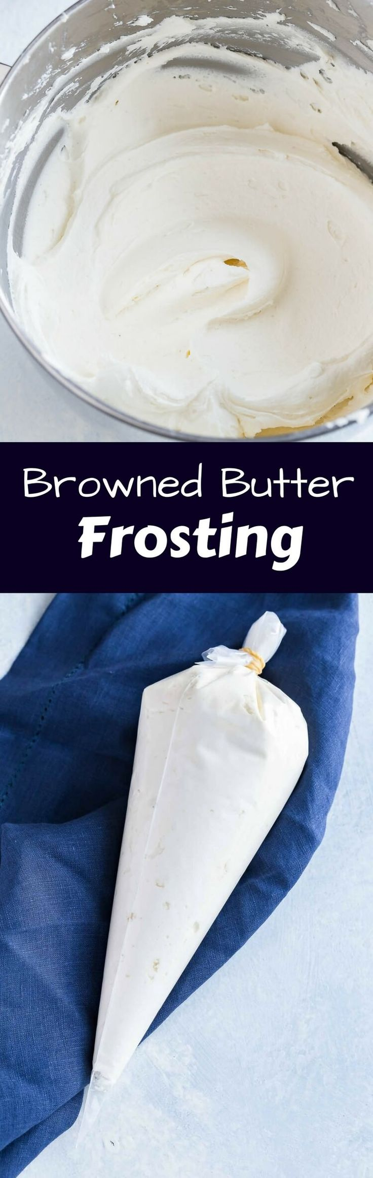 Browned Butter Frosting is made entirely from scratch and it's positively sensational. This simple recipe will make you want frosting on everything! via @introvertbaker