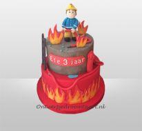 Brandweerman Sam taart 2