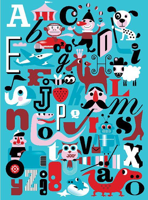 Moderna Museet Webshop - Alfabet A-Ö affisch