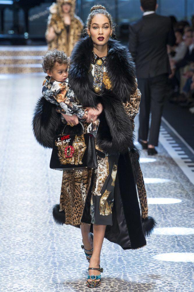 Marjorie Harvey, Jason Harvey, and Amanda Harvey Walk in Dolce & Gabbana's Fall 2017