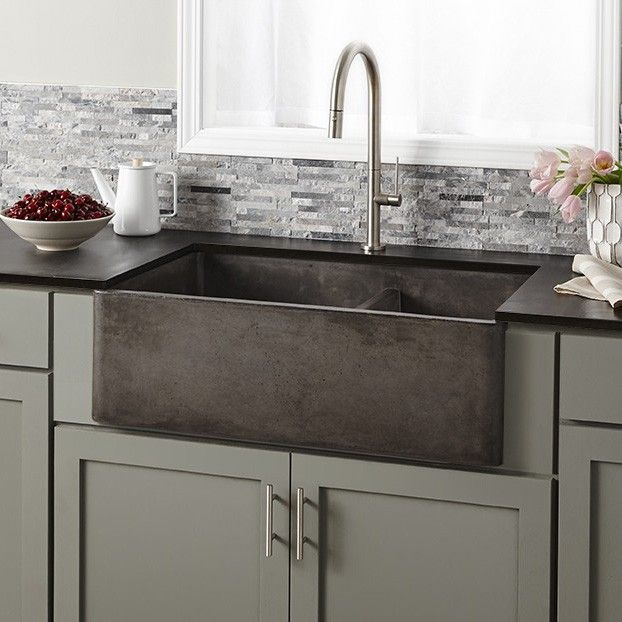Instantly upgrade your luxury kitchen with the Farmhouse Double Bowl Kitchen Sink. http://www.ybath.com/native-trails-farmhouse-double-bowl-kitchen-sink.html