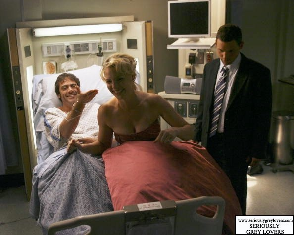 behind the scenes :) well... Obviously it's behind the scenes because Denny's dead in this scene and dead people don't smile