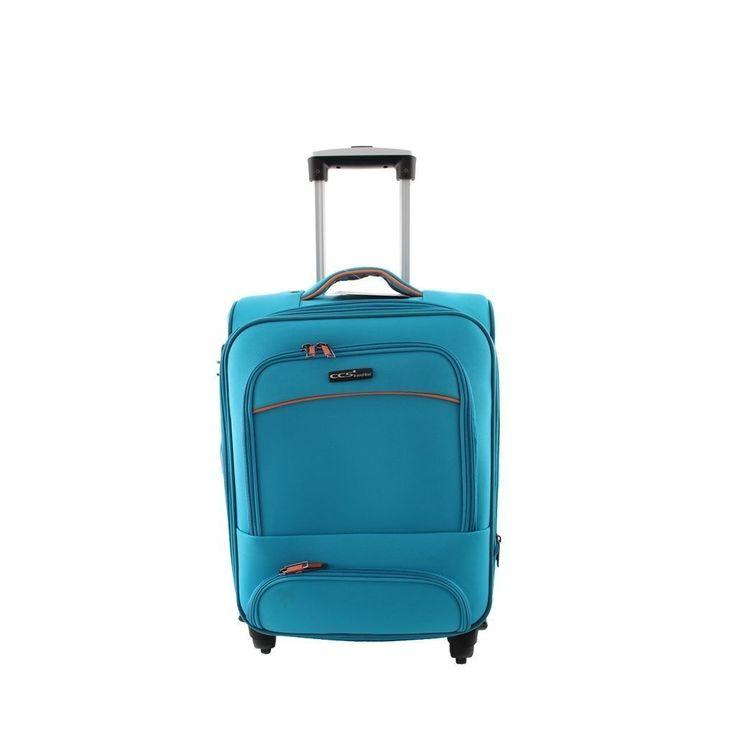 ÇÇS 408 Orta Boy Kumaş Valiz Mavi |