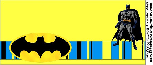 Batman - Complete Kit with frames for invitations, labels for snacks, souvenirs and pictures! | Making Our Party