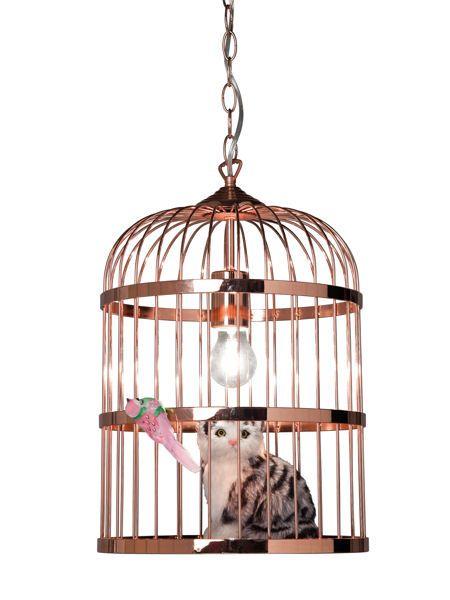 Suspension Cage Cat chez EPI Luminaires : 30 lampes pour changer d'ambiance - Journal des Femmes Décoration