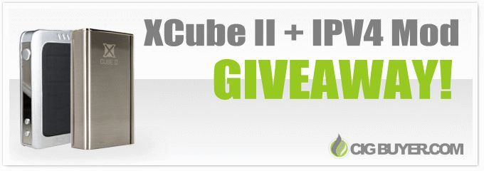 XCube II + IPV4 Mod Giveaway  We're giving away ONE Smok Xcube II Mod + ONE IPV4 100W Mod. Just add dual 18650 batteries and tank. Enter now!