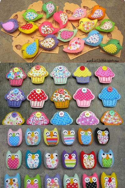 Little owls, birds and cupcakes