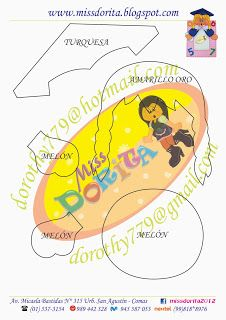 Miss Dorita niña graduada molde 1