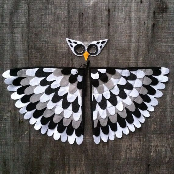 SNOW OWL Magical Owl Costume // Wings and Mask: by TreeAndVine