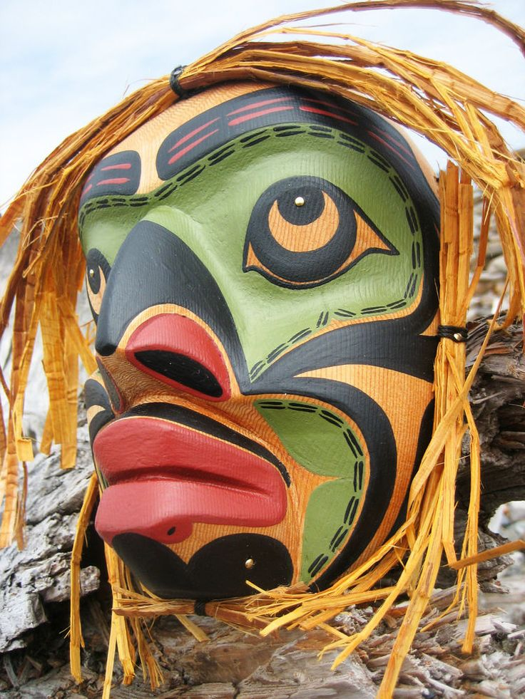 Northwest Coast First Nation Art carving: SPEAKER MASK ...