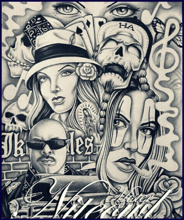 17 best images about chicano style tattoo flash on pinterest for Back mural tattoo designs