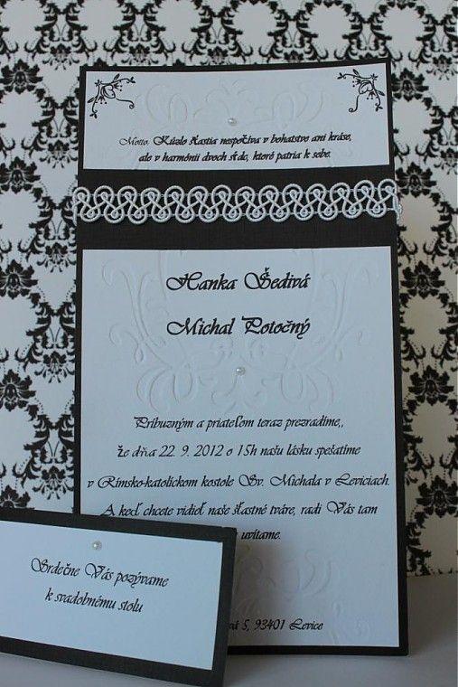 KGcards / Svadobné oznámenie - čierno biele