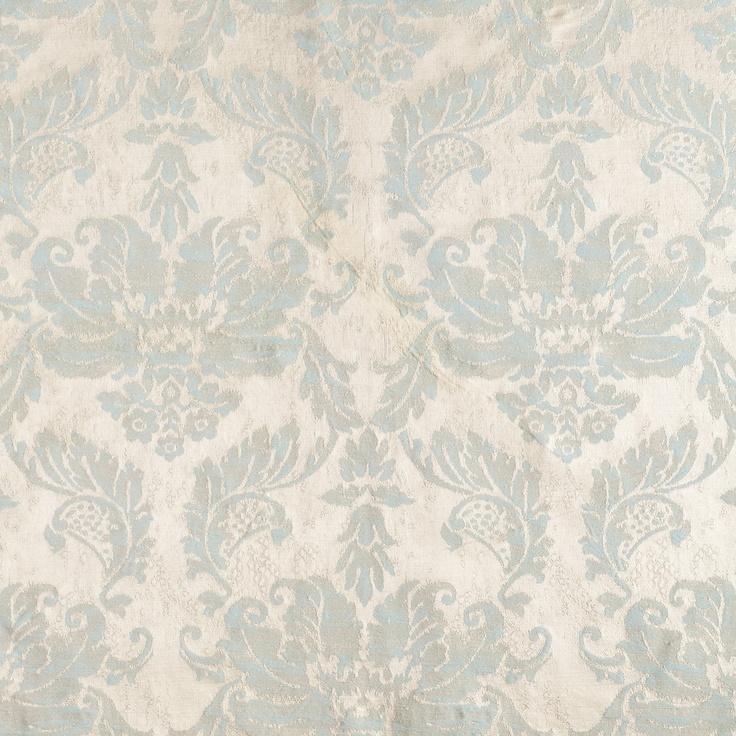 "Anichini Fortuny inspired ""antique"" Italian brocade: Window Benches, Design Antiques, Blue Antiques, Celestin Blue, Mario Celestin, Window Treatments, Anichini Fortuni, Italian Brocade, Anichini Fabrics"