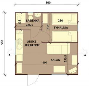 Domek Orzeł – Parterowy 25 m2 -