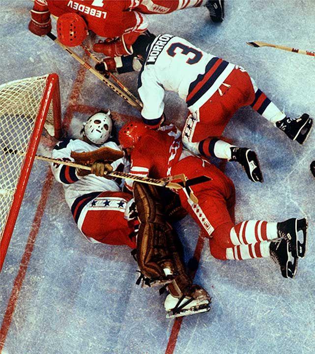 Jim Craig & Ken Morrow, Miracle on Ice, 1980.