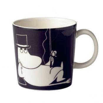 Moomin mug Moominpappa, black