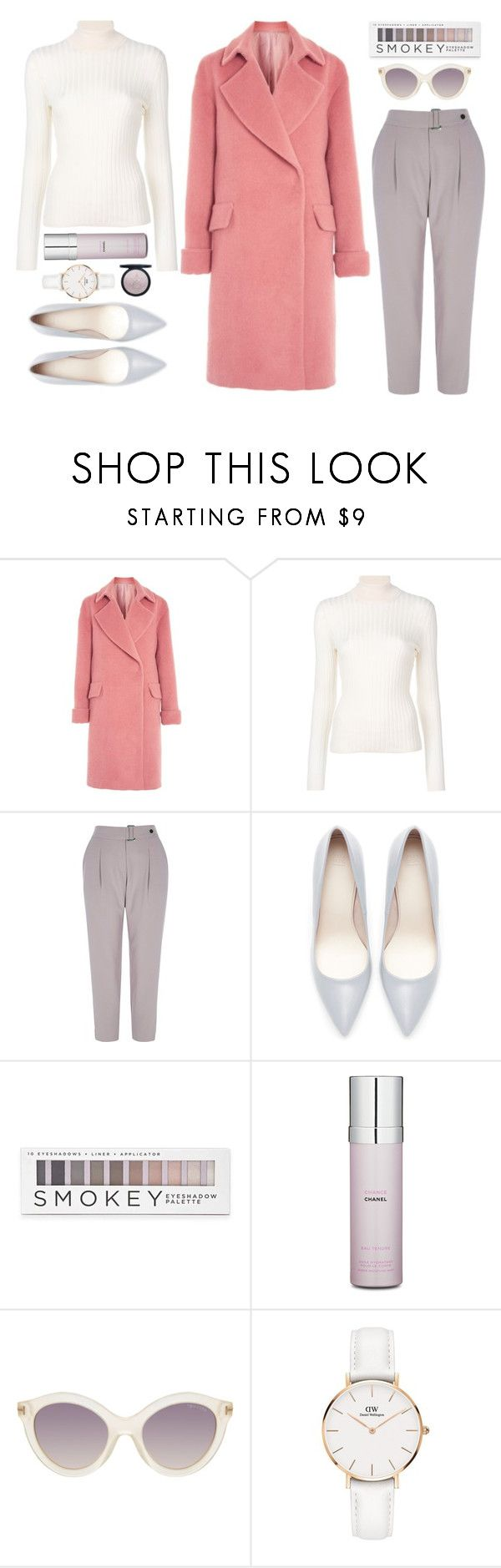 """""""Fuzzy Coat"""" by styleskater7 ❤ liked on Polyvore featuring Topshop, Gucci, River Island, Zara, Forever 21, Chanel, Tom Ford, Daniel Wellington, Winter and Heels"""