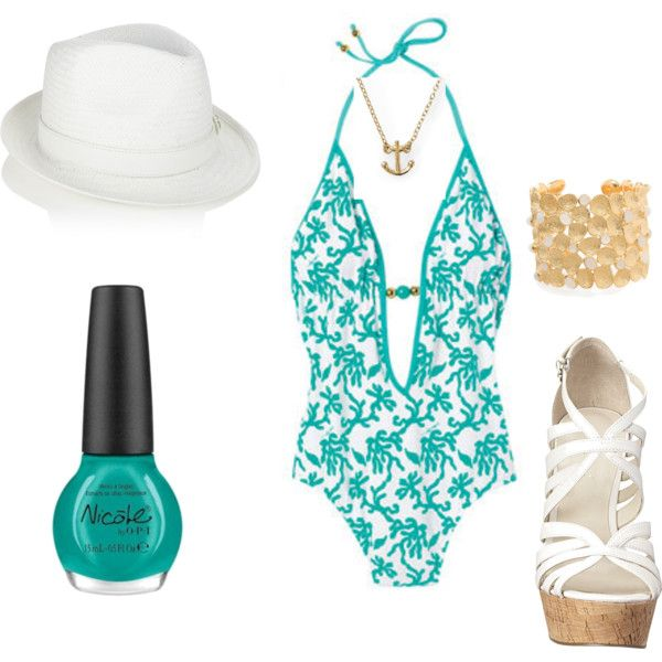 lounging by the pool..., created by cheryl-roberto-lvovsky: Favorite Things, Fashion Ideas, Pool, Pinterest Closet