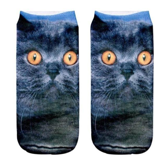 2017 3D Printed Animal Women Sport Socks Unisex Low Cut Ankle sport socks women