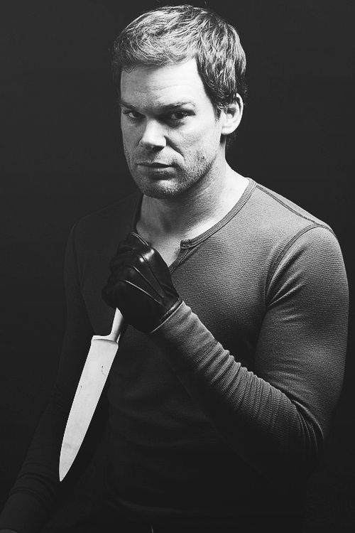 Michael C. Hall as Dexter Morgan. Goodbye Dexter! Saluting you goodbye with a Bloody Mary. Just seems right!