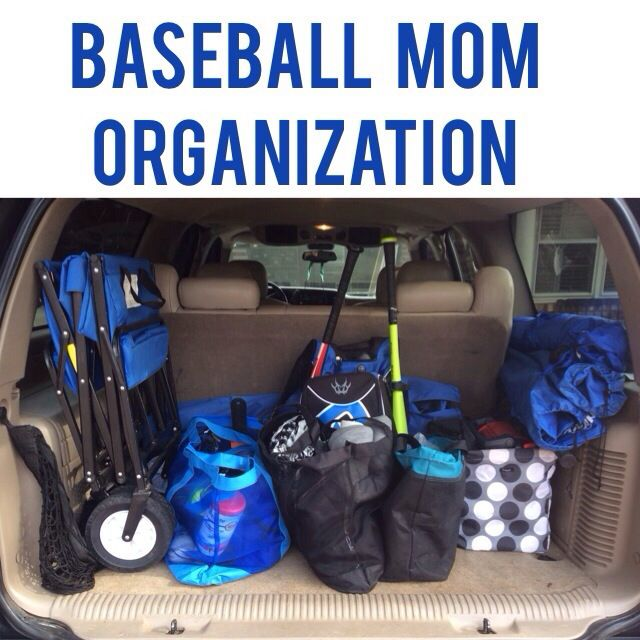 How to get organized for baseball season! How to pack a mom baseball bag/tote, how to pack your car and be ready for any weather!