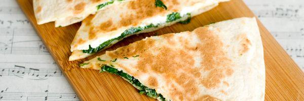 Spinazie+feta+quesadilla's