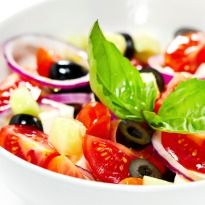 Tomato Olive Salad.....  Take a bite at the fresh crunchiness of this tomato and olive salad. The added dose of balsamic vinegar takes the flavour to another level.