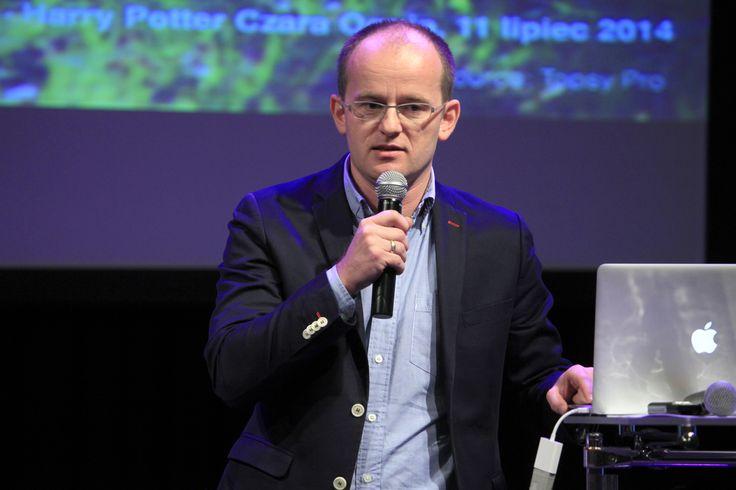 "Rafał Janik the representative of 140 Media - Twitter's Ad Sales Partner in Poland presenting ""TV x Twitter"""