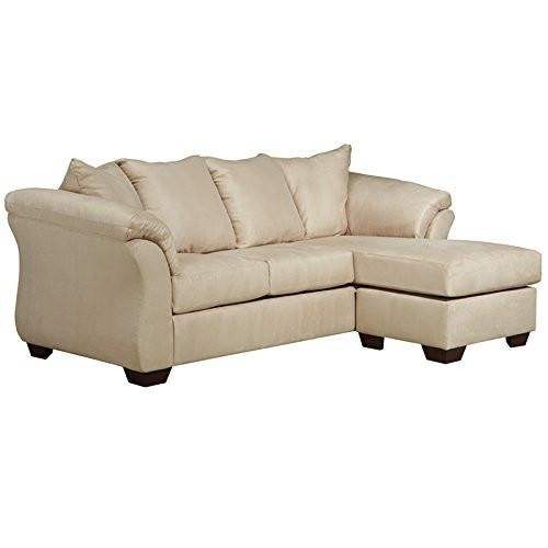 Ashley Furniture Signature Design - Darcy Sofa Chaise - 3 Seats - Ultra Soft Upholstery - Contemporary - Stone