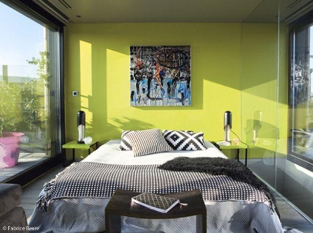 Chambre à coucher vert anis  inspirations  Pinterest