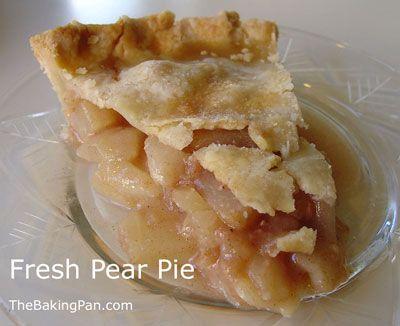 Pie Recipe | Fresh Pear Pie Recipe