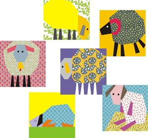 "Free Paper Piecing Pattern: Counting Sheep! | Sew Mama Sew | So stinking cute! Make a Sheep by Night! You could make an entire flock with this free paper piecing pattern from Rumi of 3patchcrafts. Today's pattern is for this center, yellow sheep; it's the perfect sheep to recreate in different fabrics for a ""sweet dreams"" quilt and more."