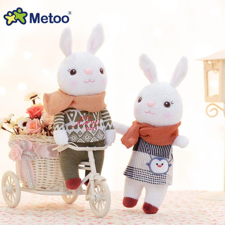 Peluş tatlı sevimli güzel kız doğum günü noel hediyesi için doldurulmuş kolye bebek çocuk toys 22 cm tiramitu tavşanlar mini metoo doll