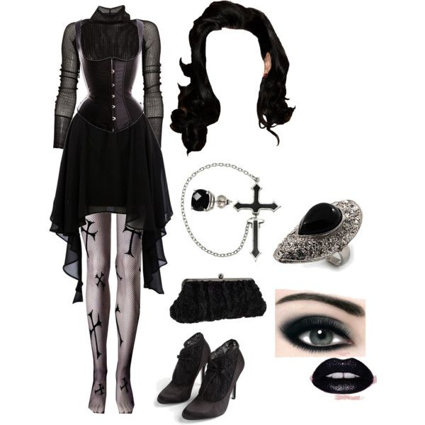 17 Best images about Goth Polyvore on Pinterest | Winter trends Silver spoon attire and Balmain