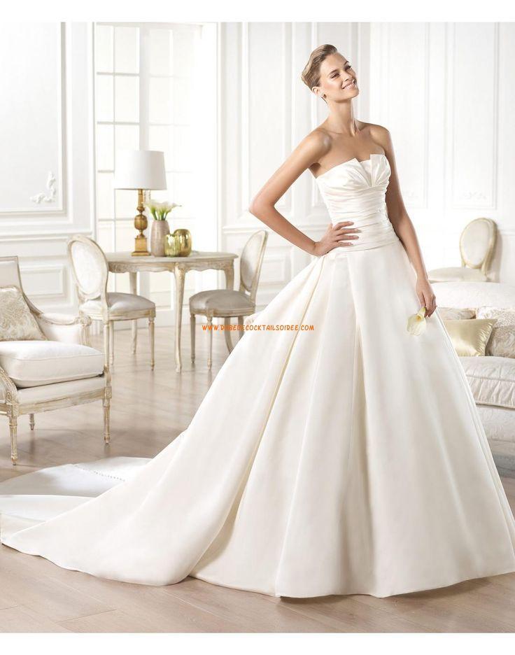 Robe de mariée princesse satin avec bustier drapé 2015
