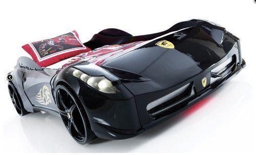 Childrens-BLACK-WHITE-RED-Ferrari-458-Italia-Style-Spider-Racing-Car-Bed-Frame
