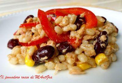 Il Pomodoro Rosso di MAntGra: Insalata d'orzo, fagioli rossi e mais