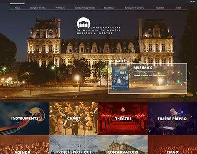 """Check out new work on my @Behance portfolio: """"Conservatoire de Musique de Genève"""" http://on.be.net/1NRXnK7"""