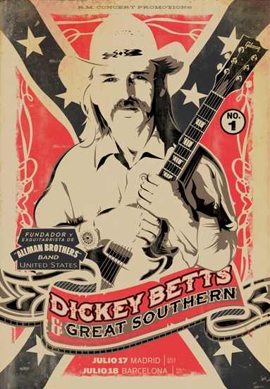 Dickey Betts And Great Southern (Not endorsing the awful flag - but this is a testament to tone.)