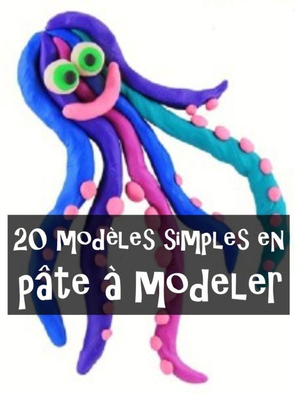 Modèles pâte à modeler : 20 idées simples | MODELAGE | Pate a modeler, Pate a sel enfant et Idee ...
