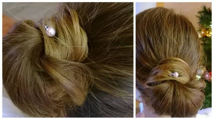 Low Bun hairstyle - TheBeautyPoison