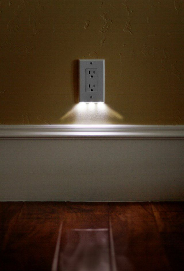 SnapRays an LED nightlight built right into the outlet cover plate | doesn't take up any space, looks great, and easy to install I need some...