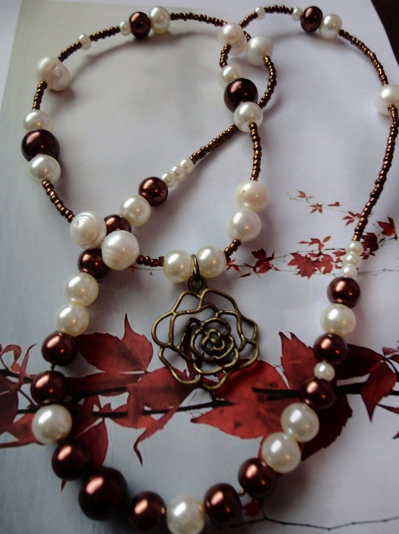 Medium Length Necklace With Mixed Fresh Water by ByYoursTrulee, $4.00