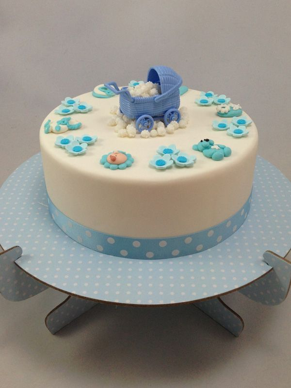 Blue Baby Pram Cake Kit. Click here http://www.icingonthecakekits.com/item_164/Blue-Baby-Pram-Cake-Kit.htm $69.95