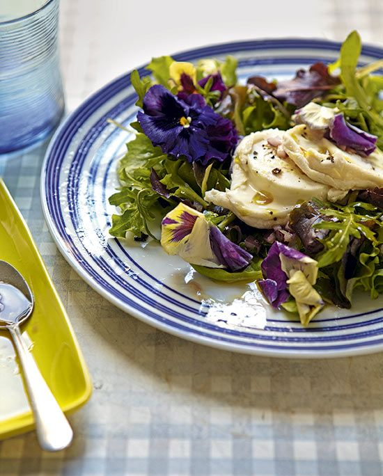 Californian goat's cheese salad. Recipe Clare Ferguson, styling ...