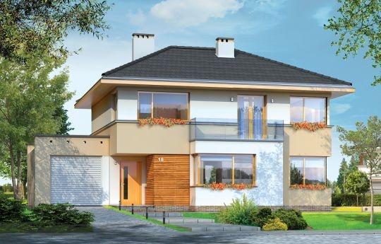 Nieduży to projekt niewielkiego, piętrowego domu jednorodzinnego, przeznaczonego dla cztero-pięcioosobowej rodziny. Założeniem projektu było połączenie nowoczesnej, ale spokojnej stylistyki, maksymalnej prostoty konstrukcji i funkcjonalności wnętrza domu. Z uwagi na problemy z pozwoleniami na budowę w naszym kraju na domy z płaskimi dachami zdecydowaliśmy się zwieńczyć bryłę czterospadowym dachem. Jednak bryła na tym nie traci - wręcz zyskuje.